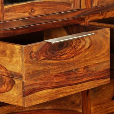 vidaXL Komoda z drewna sheesham, 162 x 40 x 85 cm[6/11]