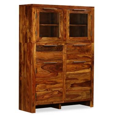 vidaXL Spintelė, tvirta rausvosios dalbergijos mediena, 100x35x140cm[1/14]