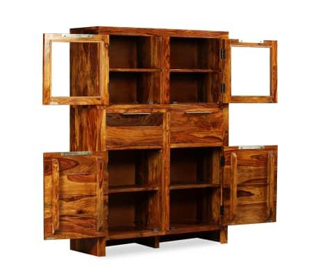 vidaXL Spintelė, tvirta rausvosios dalbergijos mediena, 100x35x140cm[2/14]