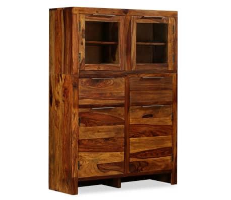 vidaXL Spintelė, tvirta rausvosios dalbergijos mediena, 100x35x140cm[13/14]