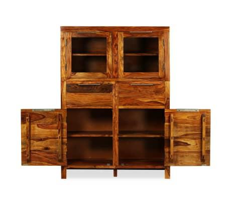 vidaXL Spintelė, tvirta rausvosios dalbergijos mediena, 100x35x140cm[4/14]