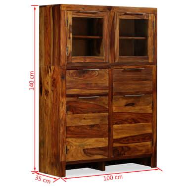vidaXL Spintelė, tvirta rausvosios dalbergijos mediena, 100x35x140cm[14/14]