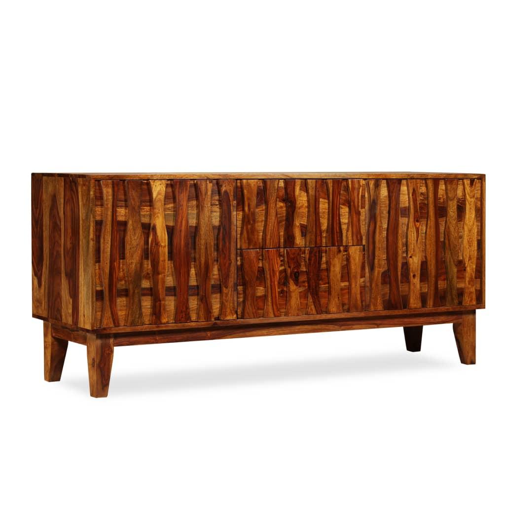 vidaXL Dressoir massief sheesham hout 160x45x70 cm