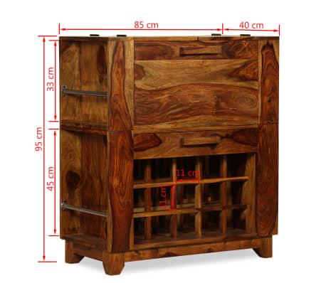vidaXL Baro spintelė, rausvosios dalbergijos mediena, 85x40x95 cm[14/14]
