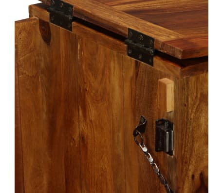 vidaXL Mobile da Bar in Legno Massello di Sheesham 85x40x95 cm Portabottiglie