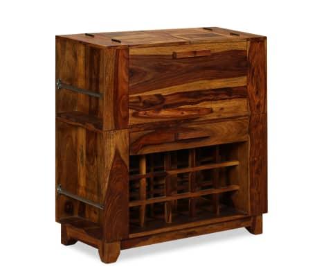 vidaXL Baro spintelė, rausvosios dalbergijos mediena, 85x40x95 cm[9/14]