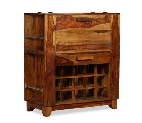 vidaXL Baro spintelė, rausvosios dalbergijos mediena, 85x40x95 cm[10/14]