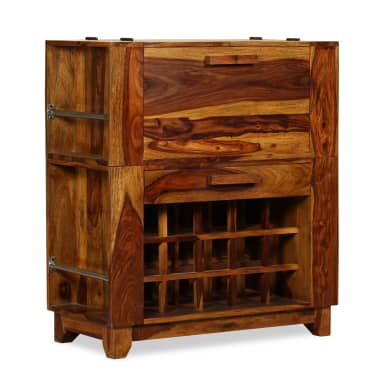 vidaXL Baro spintelė, rausvosios dalbergijos mediena, 85x40x95 cm[12/14]