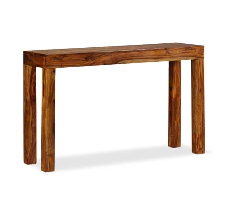 vidaXL Table console Bois massif de Sesham 120 x 35 x 75 cm[12/13]