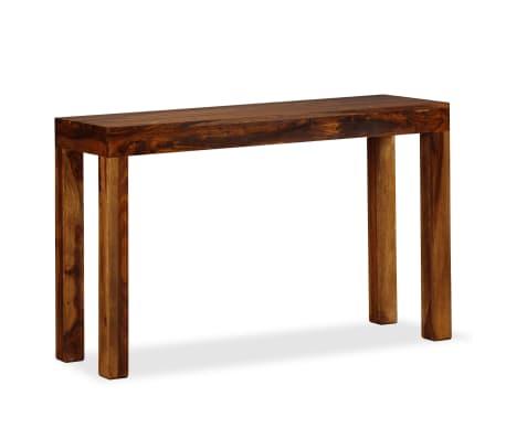 Beau VidaXL Console Table Solid Sheesham Wood 120x35x75 Cm[6/8]