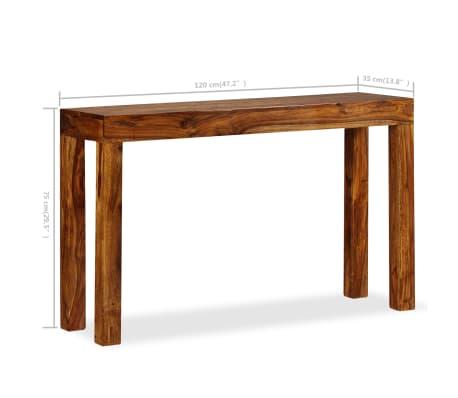 vidaXL Table console Bois massif de Sesham 120 x 35 x 75 cm[7/13]