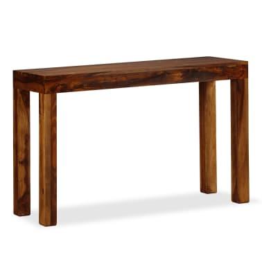 vidaXL Table console Bois massif de Sesham 120 x 35 x 75 cm[6/13]