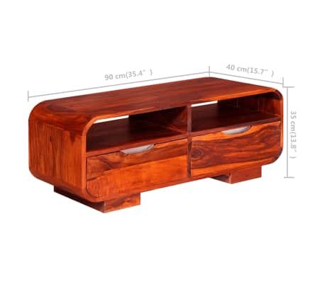 vidaXL Table basse Bois massif de Sesham 90 x 40 x 35 cm[11/11]