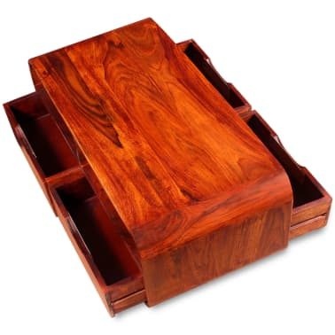 vidaXL Table basse Bois massif de Sesham 90 x 40 x 35 cm[7/11]