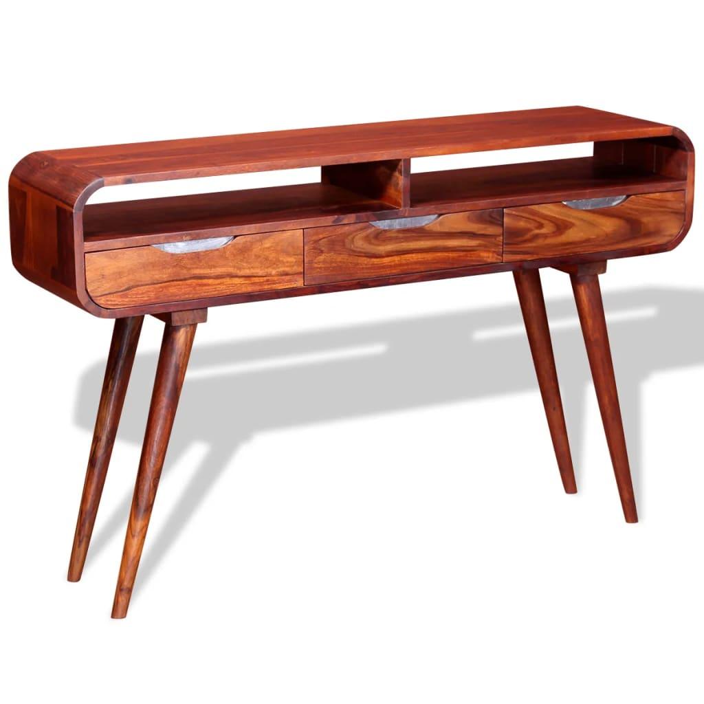 vidaXL Stolik typu konsola z litego drewna sheesham, 120 x 30 x 75 cm