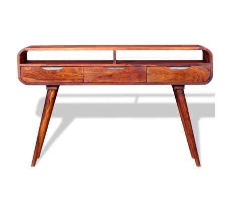 acheter vidaxl table console bois massif de sesham 120 x 30 x 75 cm pas cher. Black Bedroom Furniture Sets. Home Design Ideas
