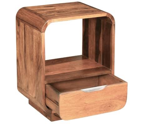 vidaXL Table de chevet avec tiroir Bois de Sesham 40 x 30 x 50 cm[6/9]