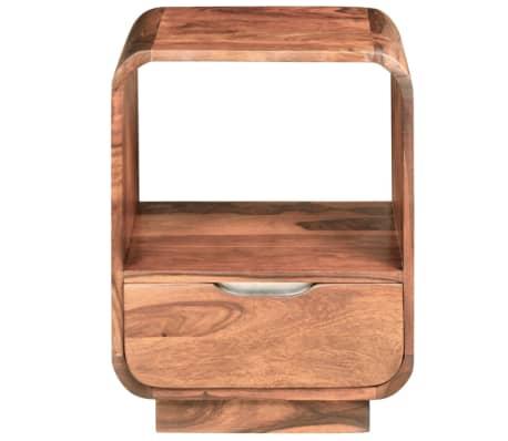 vidaXL Table de chevet avec tiroir Bois de Sesham 40 x 30 x 50 cm[7/9]
