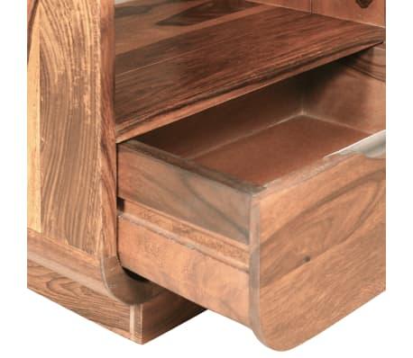 vidaXL Table de chevet avec tiroir Bois de Sesham 40 x 30 x 50 cm[8/9]