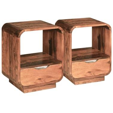 vidaXL Table de chevet avec tiroir Bois de Sesham 40 x 30 x 50 cm[5/9]