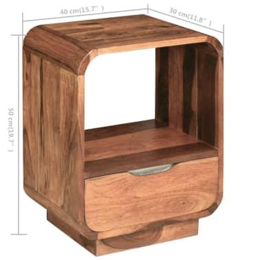 vidaXL Table de chevet avec tiroir Bois de Sesham 40 x 30 x 50 cm[9/9]