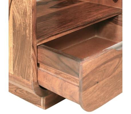 vidaXL Table de chevet avec tiroir 2 pcs Bois de Sesham 40 x 30 x 50cm[8/9]
