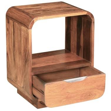 vidaXL Table de chevet avec tiroir 2 pcs Bois de Sesham 40 x 30 x 50cm[6/9]