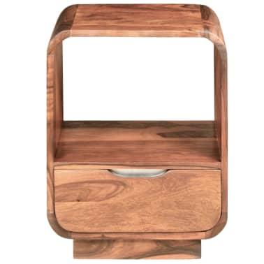 vidaXL Table de chevet avec tiroir 2 pcs Bois de Sesham 40 x 30 x 50cm[7/9]