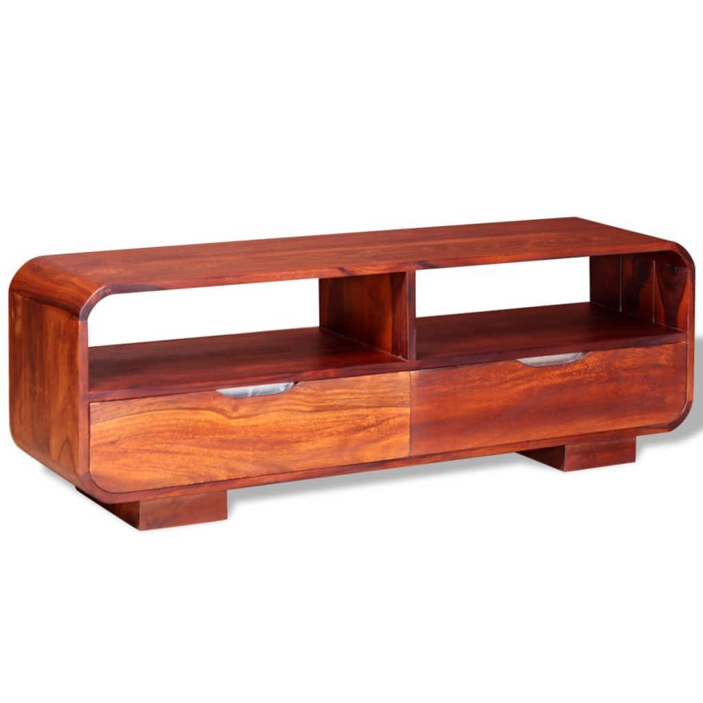 99243954 TV-Schrank Massives Sheesham-Holz 116 x 30 x 40 cm