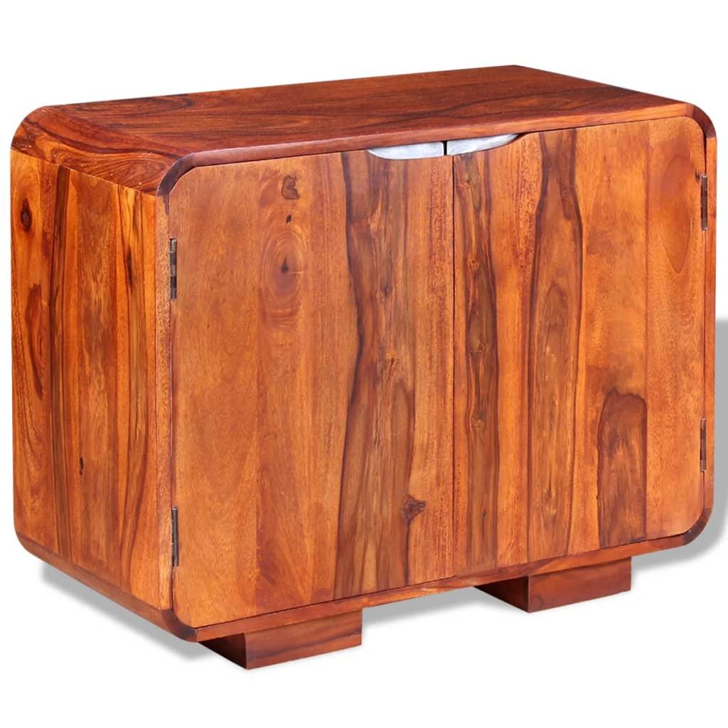 vidaXL Dressoir massief sheesham hout 75x35x60 cm