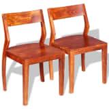 vidaXL Chaise de salle à manger 2 pcs Bois d'acacia massif et Sesham