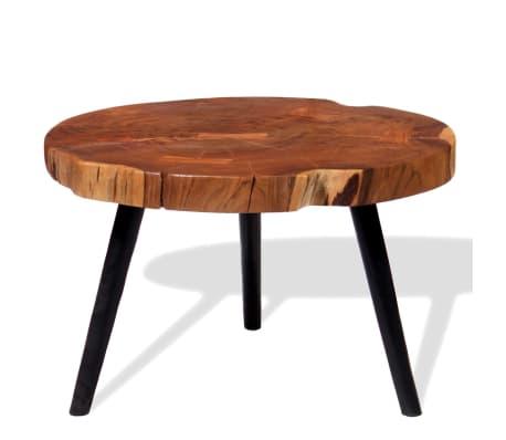 vidaXL Boomstam salontafel massief acaciahout (55-60)x40 cm[1/9]