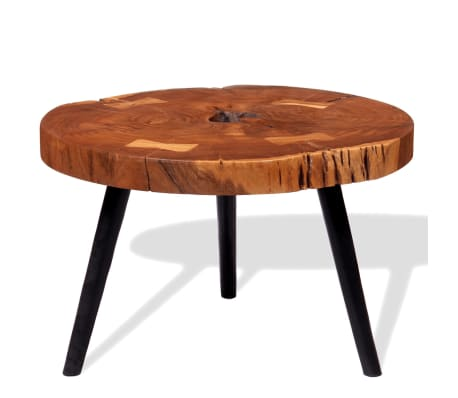 vidaXL Boomstam salontafel massief acaciahout (55-60)x40 cm[4/9]