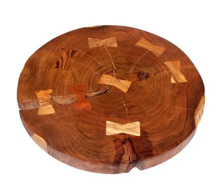 vidaXL Boomstam salontafel massief acaciahout (55-60)x40 cm[6/9]