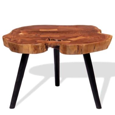 vidaXL Boomstam salontafel massief acaciahout (55-60)x40 cm[2/9]