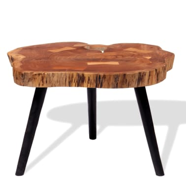 vidaXL Boomstam salontafel massief acaciahout (55-60)x40 cm[3/9]