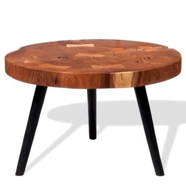 vidaXL Boomstam salontafel massief acaciahout (55-60)x40 cm[5/9]