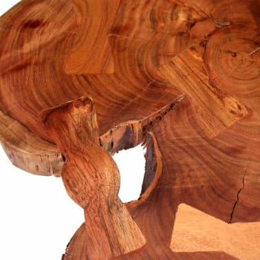 vidaXL Boomstam salontafel massief acaciahout (55-60)x40 cm[8/9]