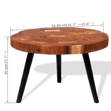 vidaXL Boomstam salontafel massief acaciahout (55-60)x40 cm[9/9]