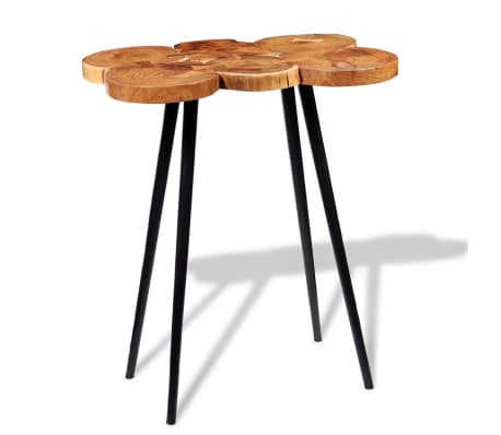 vidaXL Log Bar Table Solid Acacia Wood 90x60x110 cm[1/9]