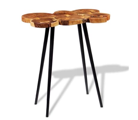 vidaXL Log Bar Table Solid Acacia Wood 90x60x110 cm[2/9]