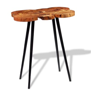 vidaXL Log Bar Table Solid Acacia Wood 90x60x110 cm[3/9]