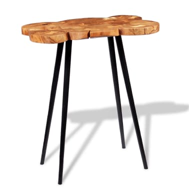 vidaXL Log Bar Table Solid Acacia Wood 90x60x110 cm[5/9]