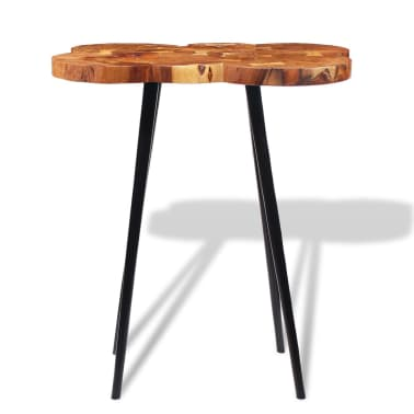 vidaXL Log Bar Table Solid Acacia Wood 90x60x110 cm[6/9]