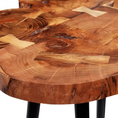 vidaXL Log Bar Table Solid Acacia Wood 90x60x110 cm[8/9]