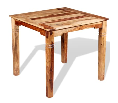 "vidaXL Dining Table Solid Sheesham Wood 32.3""x31.5""x30""[2/8]"