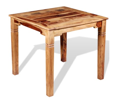 "vidaXL Dining Table Solid Sheesham Wood 32.3""x31.5""x30""[4/8]"