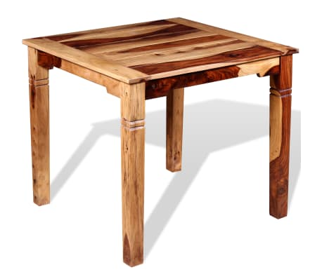 "vidaXL Dining Table Solid Sheesham Wood 32.3""x31.5""x30""[5/8]"