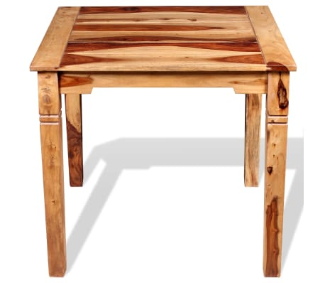 "vidaXL Dining Table Solid Sheesham Wood 32.3""x31.5""x30""[6/8]"