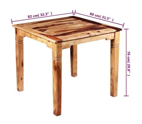 vidaxl esszimmertisch massives sheesham holz 82 x 80 x 76 cm g nstig kaufen. Black Bedroom Furniture Sets. Home Design Ideas